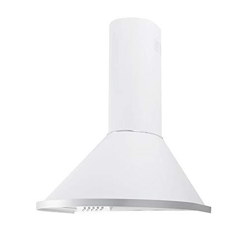 Dunstabzugshaube Wandhaube F.BAYER ROND N60W 60cm Weiß Dunstabzug 500m³/h EEK D LED