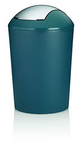 Kela Schwingdeckeleimer 25 L, Marta, Kunststoff, 24168, Petrol