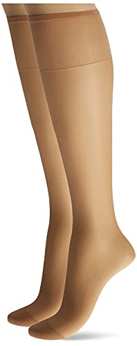 Silk Reflections Silky Sheer Knee High RT (Natural/One Size)...
