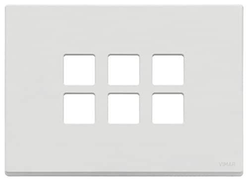 VIMAR 22693.01 PLACCA 3MX6 Flat Bianco Matt