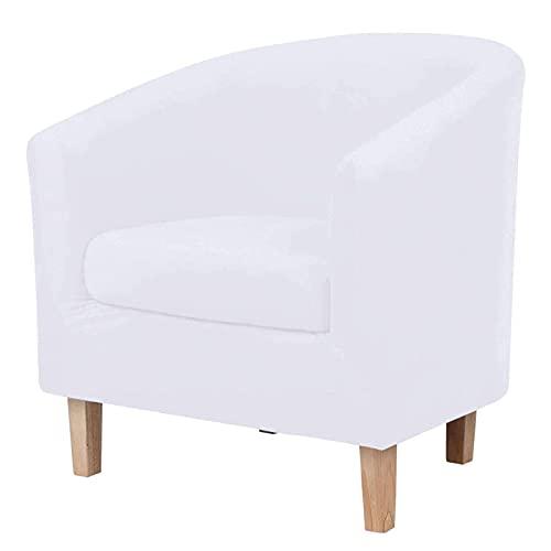 2 Piezas de Fundas de Terciopelo para sillas de Club, Funda para Silla de bañera con Funda de cojín elástica, extraíble, Lavable, Antipolvo, Protector de Muebles para sillón para Sala de Estar, Dorm