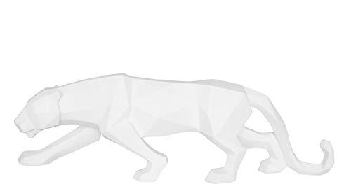 Present Time - Statue panthère Blanc Origami