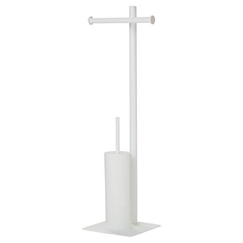 Sealskin Stand WC-Garnitur Tube, WC-Butler aus Metall, Farbe: Weiß