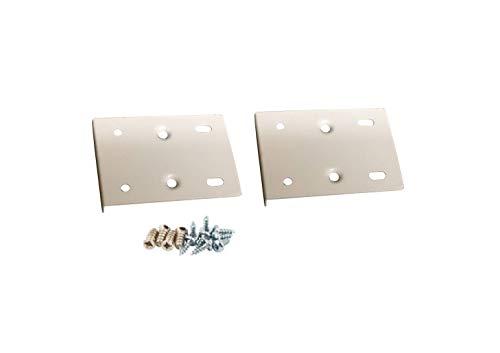 Reparaturset für Küchenschranktür, inkl. Platten und Befestigungsschrauben, cremeweiß