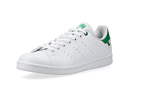 adidas Zapatillas deportivas Stan Smith para hombre, Blanco, verde, beige, 40 2/3 EU