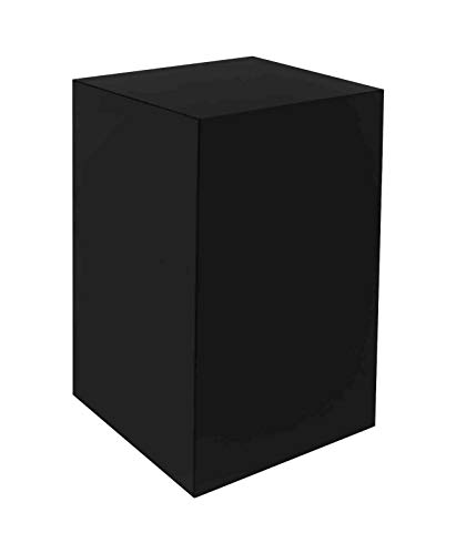 Marketing Holders Pedestal Art Stand Easel Display Decor Collectible Cube Riser 5 Sided Show Case 12'w x 12'd x 24'h Black Pack of 1