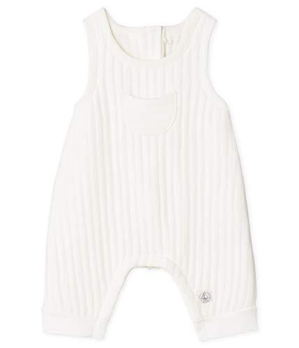 Petit Bateau Salopette Longue_4968001, Blanc (Marshmallow 01), 95 (Taille Fabricant: 12M/74centimeters) Mixte bébé