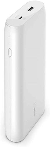 Belkin USB-C PD Power Bank 20K (Fast Charge Portable Charger with USB-C + USB Ports, 20000mAh Capacity, Battery Pack for MacBook, iPhone, iPad, more) - White