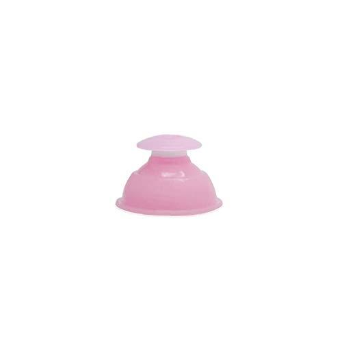 1 PC de vacío de silicona Terapia de ahuecamiento Copas eficaces masaje profesional que ahueca Anti Celulitis ventosa para el cuidado sano (rosa)