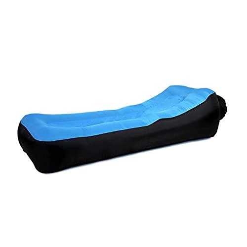 UKKD Cuscino gonfiabile automaticamente Lazy Sofa Camping Mat Doppio Strato Portable Lazy Gonfiable Air Cushion Air Divano Beach Beach Air Bed Mat Ha Un Cuscino