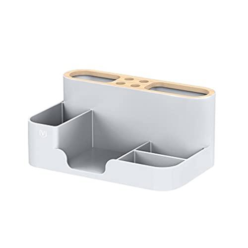 wuwu Caja de almacenamiento multifuncional de papelería TELEVISOR Aire acondicionado Organizador de control remoto (Color : G)