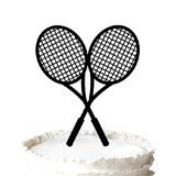 Raquetas de tenis cruzadas para tarta de cumpleaños o boda