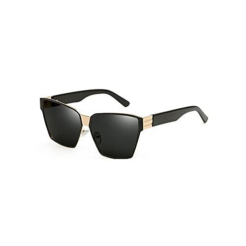 FEINENGSHUAI Taiyj Gafas de sol polarizadas retro clásico moda gafas de sol para hombres barrera ligera con borde dorado