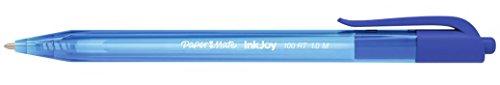 Papermate InkJoy 100 RT Clip-on retractable ballpoint pen Medio Azul - Bolígrafo (Clip-on retractable ballpoint pen, Azul, Translúcido, Medio, 0,5 mm, Ambidextro)