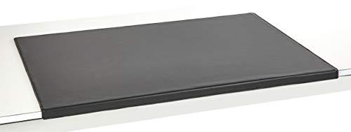 Luxentury Schreibtischunterlage Schreibunterlage Leder Kantenschutz: 90x60 cm Echtleder abgewinkelt Auflage schwarz rutschfest für Büro, USM900600