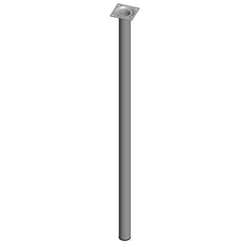 Element System 11100-00076 Pie para muebles, aluminio blanco, 70 cm