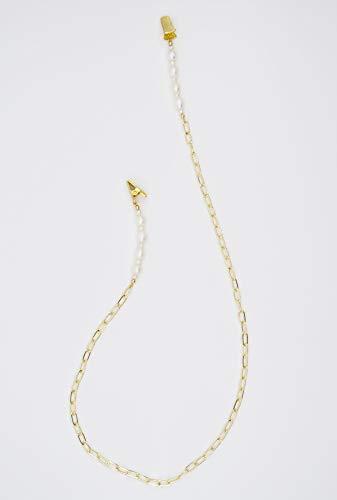 Charlotte Glasses & Face Mask Neck Strap | Eyeglass Holder & Chain Necklace | Eyeglasses Straps & Lanyard for Women | Gold Eyewear Retainer | Sunglasses & Masks Lanyards | Sunglass Behind Head String