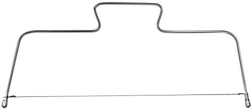 Zenker Tortenbodenschneider 34 cm PATISSERIE, höhenverstellbare Schneidehilfe, Tortenbodenteiler aus Edelstahl (Farbe: Silber), Menge: 1 Stück