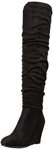 Chinese Laundry Women's UMA Over The Knee Boot, Black Suede, 10 M US