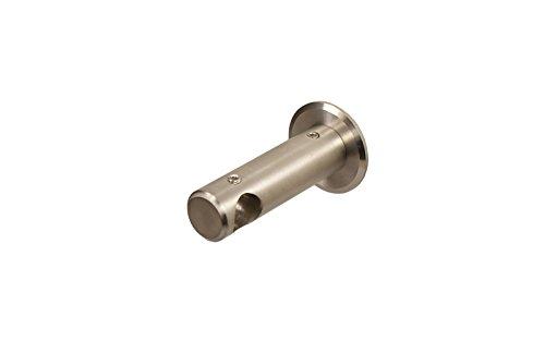 iso-design Edelstahl Wandhalter Deckenhalter für 12 mm Gardinenstangen geschlossen 5 cm