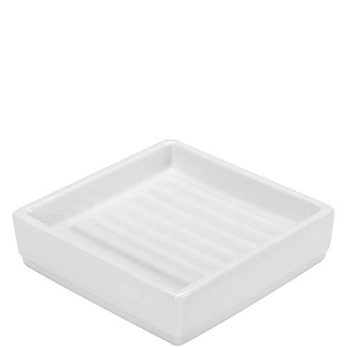 Butlers Brighton Seifenablage für Badezimmer - Porzellan - weiß