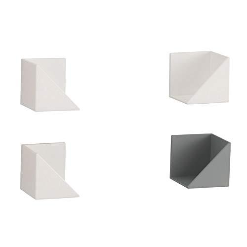 Belcaラップ・ティッシュホルダーFLATin2個セット(1個あたり)幅5.5cm×奥行5.95cm×高さ5.5cmホワイトマグネット式FK-WTW