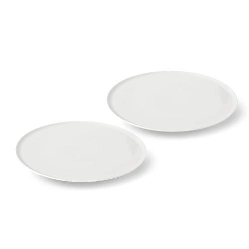 vivo Villeroy & Boch Group 19-5252-8471 Newfreshcollec Pizzatellerset 2 teilig Geschirrsets, Porzellan, weiß, 33 x 33 x 2.8 cm, 2 Einheiten