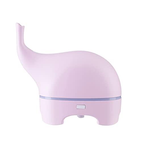 tianquang Difusor de Aroma USB Divertido Elefante 5V ultrasónico Espacio de Aceite Esencial Difusor Color LED HUMIDIFÍFICADOR HUMIDANTE PORTÁTIDO Humidificador Fogger (Color : Pink)