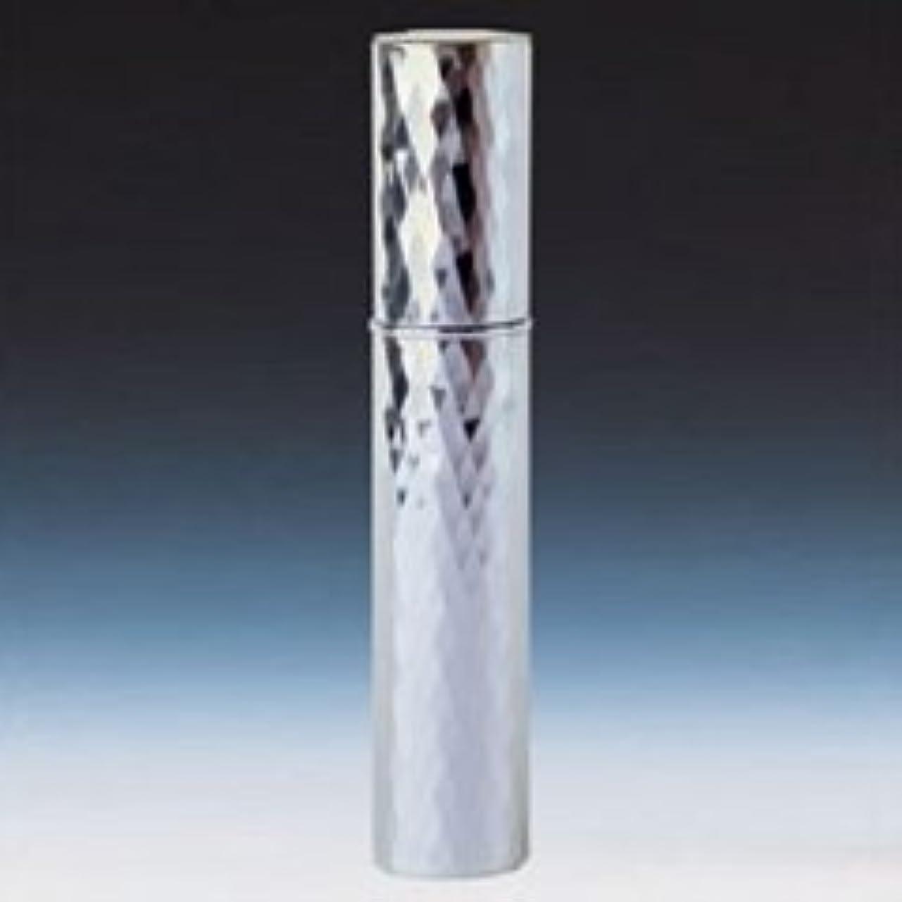 【ヤマダアトマイザー】メタルアトマイザー メタルポンプ 22102 15mm径 ダイヤカット シルバー 3.5ml