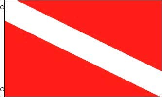 Diver Flag - 3 foot by 5 foot Polyester  NEW  by Other Flags