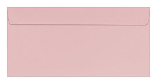 100 farbige Briefumschläge / Din lang / Farbe: rosa