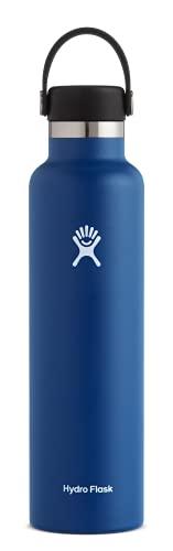Hydro Flask Standard Mouth Water Bottle, Flex Cap - 24 oz, Cobalt