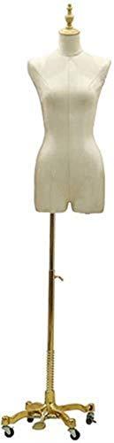 Pop vrouwelijk verstelbaar modieuze opblaasbare etalagepop met metalen voet instelbare hoogte voor Apparel Jewelry Show snijder buste standaard