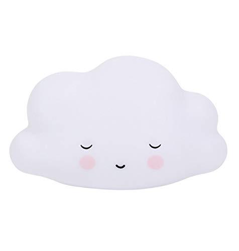 A Little Lovely Company - Nachtlicht, Schlaflicht - Sleeping Cloud, Wolke - weiß - 14,5 x 5,5 x 13,5 cm