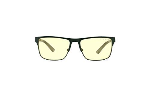 Gunnar Gaming and Computer Eyewear | Pendleton, Moss frame, Amber tint | Blue Light Blocking Glasses | Patented lens, 65% Blue Light Protection, 100% UV Light | Reduce Eye Strain & Dryness