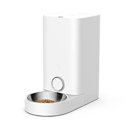PETKIT Alimentatore Automatico Intelligente di Alta qualità, Garanzia di Consegna degli Alimenti, Non Intasamento, Sigillatura, Controllo delle App (2.8L Mini PRO)