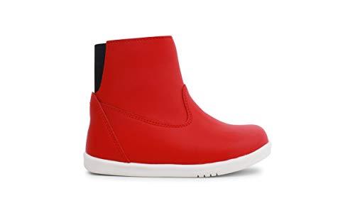Bobux I-Walk Paddington Winter Boots_Caminantes – Uno stivale di pelle, fodera in lana merino, membrana interna impermeabile all'acqua, suola flessibile e resistente, chiusura lampo Rosso Size: 25 EU