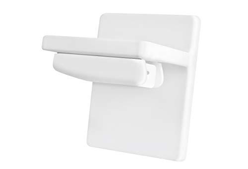 Ventanara Klebeplatte ohne Bohren Klemmfix Jalousie Plissee (Plissee Klebeplatte 4 Stück, Weiß)