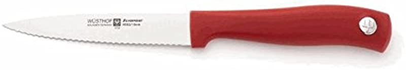 Wusthof Red Silverpoint II 4 Serrated Spear Point Utility Knife RED 4052R
