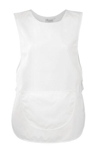 Premier Überwurfschürze/Kasack/Tabart mit Tasche (M, Weiß)