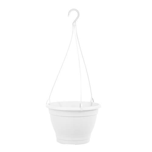 greemotion Blumenampel Lea, Kunststoff-Hängeblumentopf in Weiß, Ø 25 cm