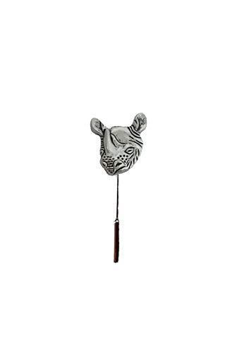 Rhino Head PT131 Tibetaans Zilver Embleem Engels Tinnen op een stropdas stok pin hoed sjaal kraag geplaatst door de VS geschenken voor alle 2016 van DERBYSHIRE UK