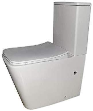 Pack WC de Inodoro Square compacto adosado a la pared con salida ...