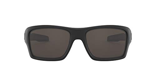 Oakley Herren Turbine OO9263 Sonnenbrille, Schwarz(Black/Grey), 63