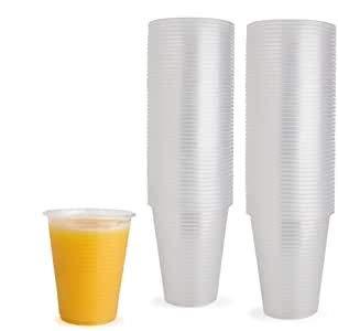100 vasos de plástico desechables transparentes, ideales para fiestas, picnics, barbacoas, viajes y eventos (6 onzas)