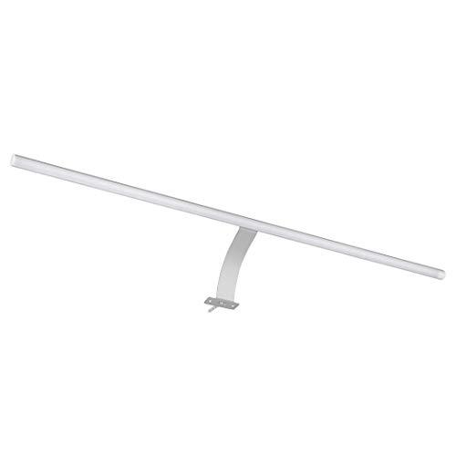 SEBSON® LED Spiegelleuchte 60cm mit Schalter, Schrank Aufbauleuchte, neutralweiß 4000K, 600x13mm, 6W, 450lm, Aluminium, Schminklicht, Bad, Stecker