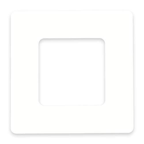 in-outdoorshop Protección de papel tapiz protectores de papel tapiz marco protector decorativo, panel de pared marco para interruptor de luz y toma (weiß 1-fach)