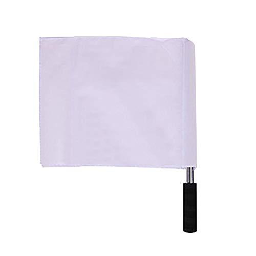 Bandera de Mano de Señal,Mini Banderines de Córner para Fútbol Bandera de Mano de Árbitro Banderines de Córner para Competición de Carrera Deportiva Inicio Atletismo Patrulla de Esquina(Blanco)