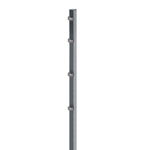 Zaunpfosten mit Klemmlaschen in anthrazit für die Höhe 120/123 cm
