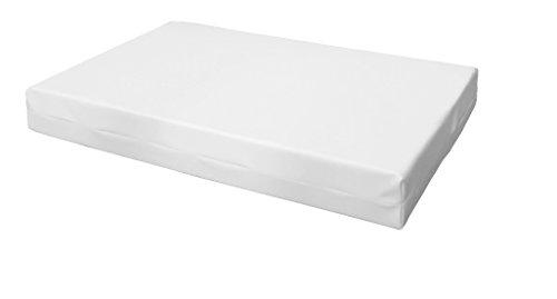 Cuscino per bancali - cuscino per seduta divano pallet di legno - IN ECOPELLE SFODERABILE (SEDUTA 80X120X15 CM, BIANCO)